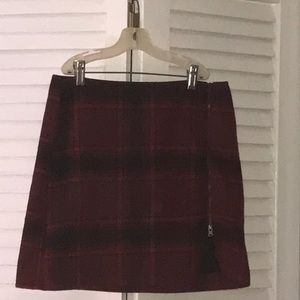 Hollister wool mini skirt
